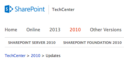 sharepoint-service-packs